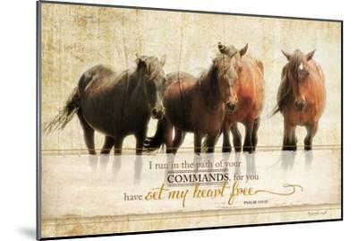 I Run-Jennifer Pugh-Mounted Art Print