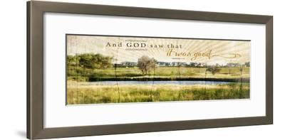 And God Saw That it Was Good-Jennifer Pugh-Framed Art Print