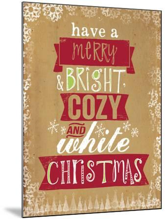 Cozy White Christmas-Katie Doucette-Mounted Art Print