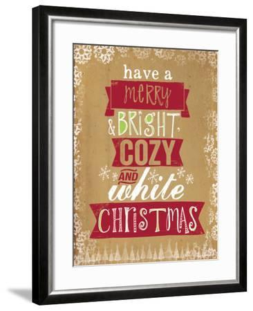 Cozy White Christmas-Katie Doucette-Framed Art Print