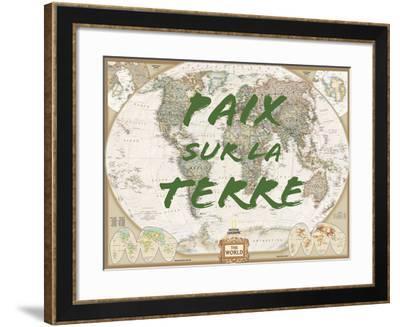 Paix sur la Terre-National Geographic Maps-Framed Art Print