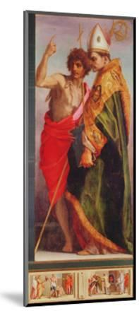 Polyptych from Vallombrosa Abbey, Detail of the Right Hand Side-Andrea del Sarto-Mounted Giclee Print