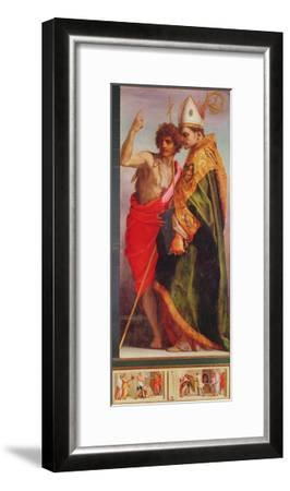 Polyptych from Vallombrosa Abbey, Detail of the Right Hand Side-Andrea del Sarto-Framed Giclee Print