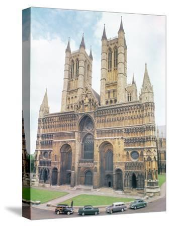 View of Lincoln Cathedral--Stretched Canvas Print