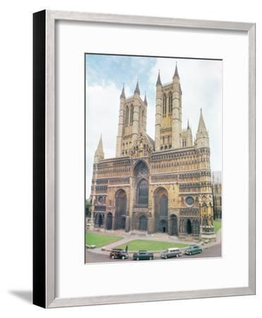 View of Lincoln Cathedral--Framed Photographic Print