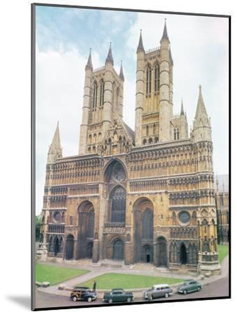 View of Lincoln Cathedral--Mounted Photographic Print