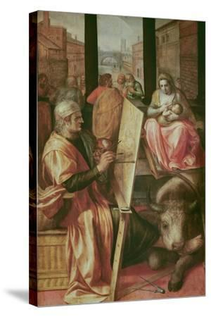 Saint Luke Painting the Virgin Mary-Frans Floris-Stretched Canvas Print