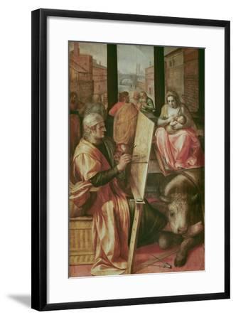 Saint Luke Painting the Virgin Mary-Frans Floris-Framed Giclee Print