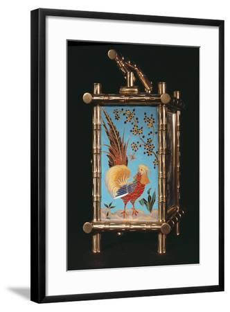 Side Panel of French Chinoiserie Carriage Clock Photographic Print by |  Art com
