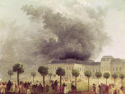 Fire at the Opera House of the Palais-Royal in 1781-Hubert Robert-Framed Giclee Print