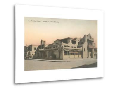 Vintage La Fonda Hotel, Santa Fe, New Mexico--Metal Print