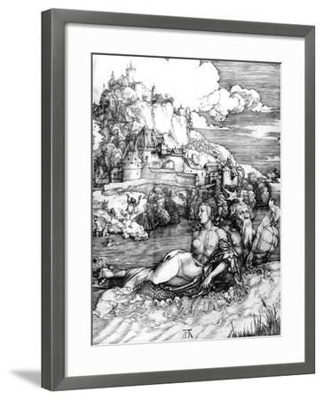 The Sea Monster, 1498-Albrecht D?rer-Framed Giclee Print
