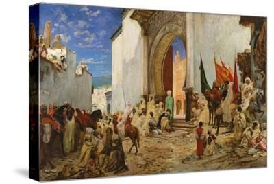 Entry of the Sharif of Ouezzane into the Mosque, 1876-Georges Clairin-Stretched Canvas Print