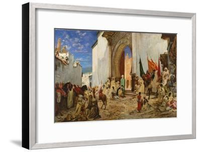 Entry of the Sharif of Ouezzane into the Mosque, 1876-Georges Clairin-Framed Giclee Print