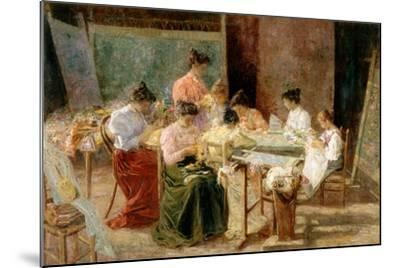 Venetian Embroidery Makers, C.1905-Andrew Colley-Mounted Giclee Print