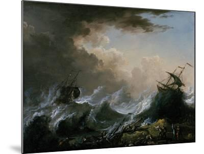 Sea Storm and Shipwreck-Christian Wilhelm Ernst Dietrich-Mounted Giclee Print