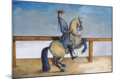 No. 45 a Horse of the Spanish Riding School Performing a Dressage Movement Called the 'Courbette'-Baron Reis d' Eisenberg-Mounted Giclee Print