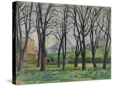 Chestnut Trees at Jas De Bouffan, C.1885-86-Paul Cezanne-Stretched Canvas Print