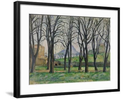 Chestnut Trees at Jas De Bouffan, C.1885-86-Paul Cezanne-Framed Giclee Print