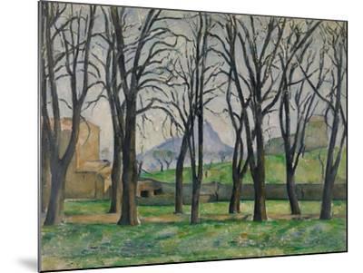 Chestnut Trees at Jas De Bouffan, C.1885-86-Paul Cezanne-Mounted Giclee Print