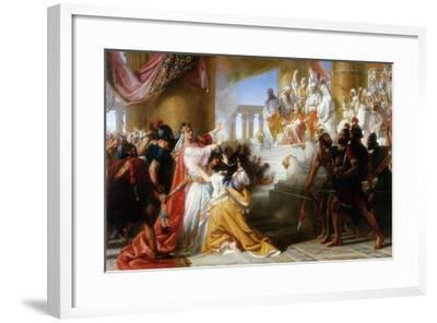 Athaliah's Dismay at the Coronation of Joash, C.1858-Solomon Alexander Hart-Framed Giclee Print