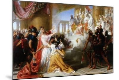 Athaliah's Dismay at the Coronation of Joash, C.1858-Solomon Alexander Hart-Mounted Giclee Print