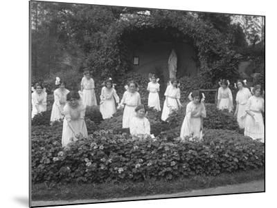 Graduating Class of Girls from the Roman Catholic Orphan Asylum in the Flower Garden-William Davis Hassler-Mounted Photographic Print