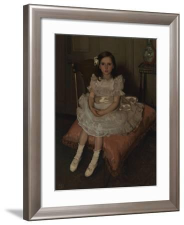 Portrait of Miss Nellie Patterson, C.1903-Hugh Ramsay-Framed Giclee Print