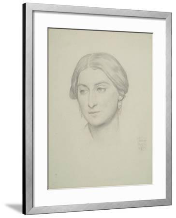 Study for 'Cimabue's Celebrated Madonna', 1853-Frederic Leighton-Framed Giclee Print