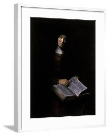 Old Women with Book-Nicolaes Maes-Framed Giclee Print