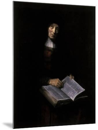 Old Women with Book-Nicolaes Maes-Mounted Giclee Print