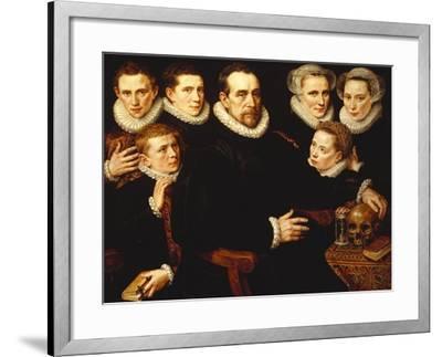A Group Portrait of a Gentleman Aged 57-Adriaen Thomasz Key-Framed Giclee Print