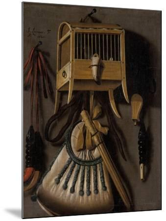 Still Life with Bird Trapping Equipment, 1660-Johannes Leemans-Mounted Giclee Print