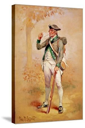 Uniform of a Private of the Continental Line in the 3rd New York Regiment in 1775, C.1920-Charles MacKubin Lefferts-Stretched Canvas Print