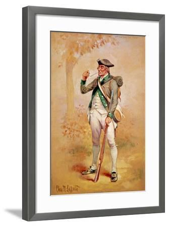 Uniform of a Private of the Continental Line in the 3rd New York Regiment in 1775, C.1920-Charles MacKubin Lefferts-Framed Giclee Print
