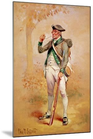 Uniform of a Private of the Continental Line in the 3rd New York Regiment in 1775, C.1920-Charles MacKubin Lefferts-Mounted Giclee Print