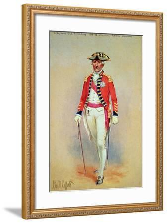 Sir William Howe, Commander in Chief of the British Army (1776-78) in Full Dress Dismounted-Charles MacKubin Lefferts-Framed Giclee Print