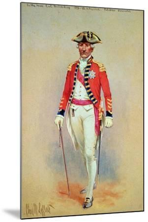 Sir William Howe, Commander in Chief of the British Army (1776-78) in Full Dress Dismounted-Charles MacKubin Lefferts-Mounted Giclee Print