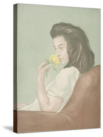 The Tea Rose, C.1900-Antoine Maurin-Stretched Canvas Print