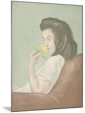 The Tea Rose, C.1900-Antoine Maurin-Mounted Giclee Print