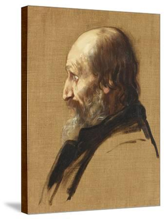 Portrait of Thomas Dixon, 1879-Alphonse Legros-Stretched Canvas Print