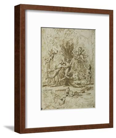 Apollo and Daphne, C.1635-Nicolas Poussin-Framed Giclee Print