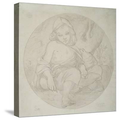 Giotto as a Shepherd Boy, 1849-Frederic Leighton-Stretched Canvas Print