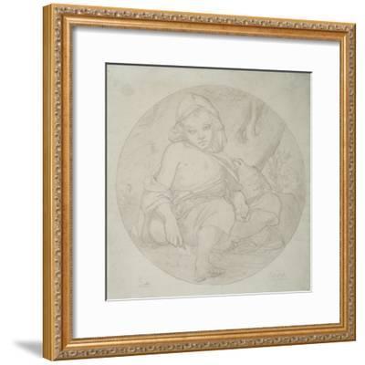 Giotto as a Shepherd Boy, 1849-Frederic Leighton-Framed Giclee Print