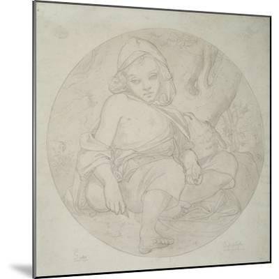 Giotto as a Shepherd Boy, 1849-Frederic Leighton-Mounted Giclee Print