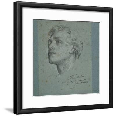 Portrait of Charles Augustus Howell, C.1866-Frederic Leighton-Framed Giclee Print