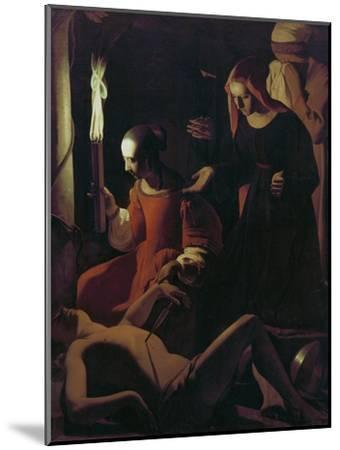 St. Sebastian Tended by St. Irene, C.1649-Georges de La Tour-Mounted Giclee Print