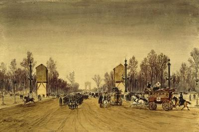 France Paris, Champs-Elysee in January, 1871-Edme-Emile Laborne-Framed Giclee Print