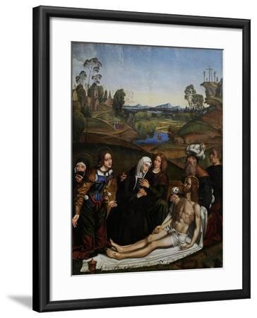The Lamentation of Christ with a Donor, C.1505-Domenico Panetti-Framed Giclee Print