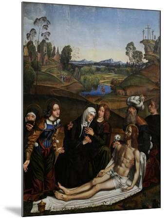The Lamentation of Christ with a Donor, C.1505-Domenico Panetti-Mounted Giclee Print